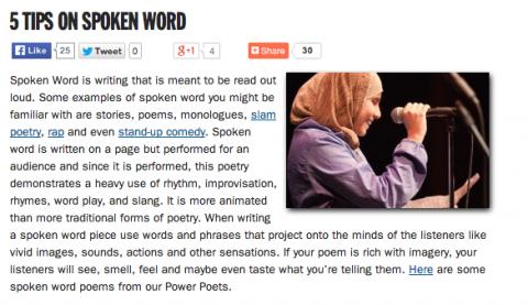 5 Tips on Spoken Word